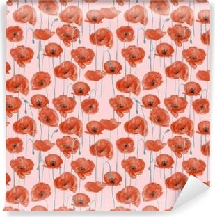 Vinyl Fotobehang Red poppies - Nina Ho