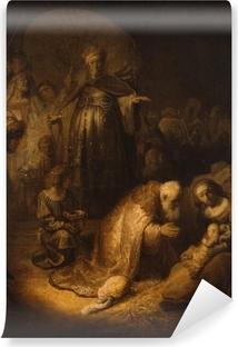 Vinyl Fotobehang Rembrandt van Rijn - De aanbidding der Koningen
