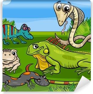 Reptielen Kleurplaten Printen.Fotobehang Reptielen En Amfibieen Kleurplaat Pixers We Leven Om