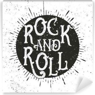 Vinyl Fotobehang Rockmuziek afdruk