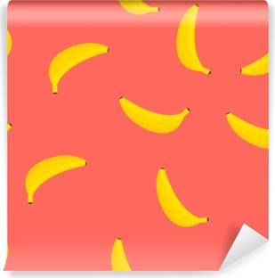 Vinyl Fotobehang Rode bananen naadloos patroon. vectorillustratie