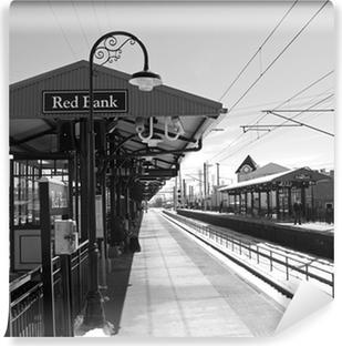 Vinyl Fotobehang Rode bank station