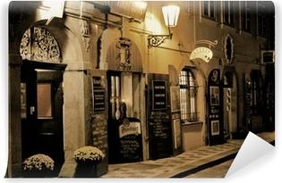 Vinyl Fotobehang Romantisch diner in Praag