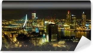Vinyl Fotobehang Rotterdam bij nacht