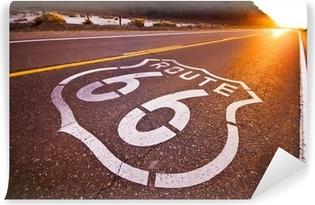 Vinyl Fotobehang Route 66 zonsondergang