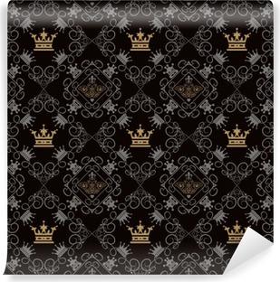 Vinyl Fotobehang Royal achtergrond, Naadloos Patroon
