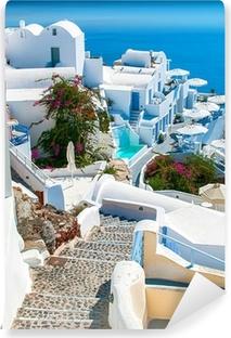 Vinyl Fotobehang Santorini, Griekenland