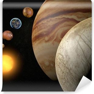 Vinyl Fotobehang Satelliet-Europa, maan van Jupiter, ruimte zonnestelsel