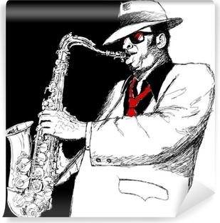 Vinyl Fotobehang Saxofonist