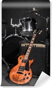 Vinyl Fotobehang Set van muziekinstrumenten tijdens concert