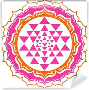 Vinyl Fotobehang Shri Yantra - Lotus Blüte - Mandala