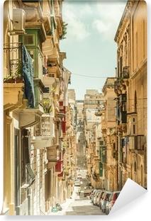 Vinyl Fotobehang Smalle straat in Malta