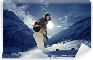 Vinyl Fotobehang Snowboard