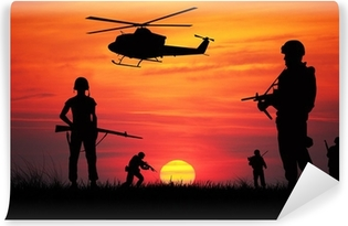 Vinyl Fotobehang Soldaten in oorlog