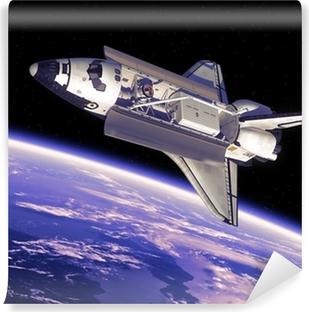 Vinyl Fotobehang Space Shuttle In Space
