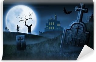 Vinyl Fotobehang Spooky Halloween Night