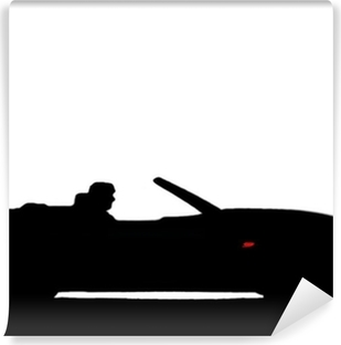 Vinyl Fotobehang Sport auto silhouet