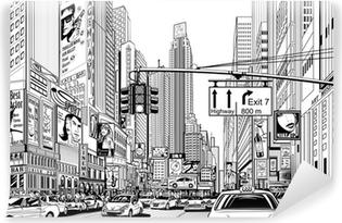 Vinyl Fotobehang Straat in New York city