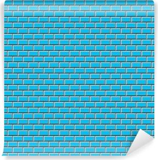 Vinyl Fotobehang Subway Tile-Blue