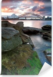 Vinyl Fotobehang Sydney Opera House en de Harbour Bridge ..