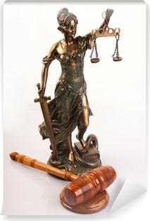 Vinyl Fotobehang Temida - de god van de wet