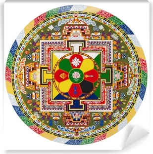 Vinyl Fotobehang Tibetaanse mandala