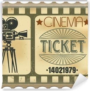 Vinyl Fotobehang Ticket in de bioscoop