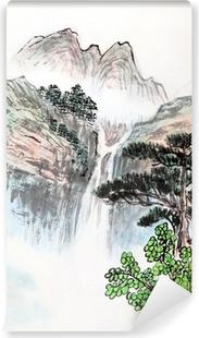 Vinyl Fotobehang Traditionele Chinese schilderkunst, landschap