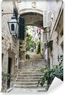 Vinyl Fotobehang Trappen in de Oude Stad van Dubrovnik