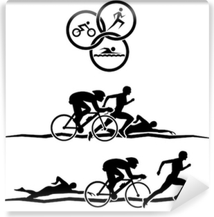 Vinyl Fotobehang Triathlon