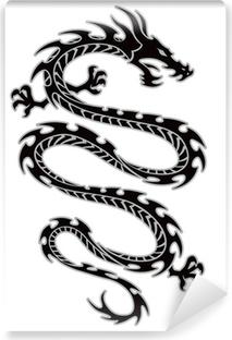 Vinyl Fotobehang Tribal dragon tattoo