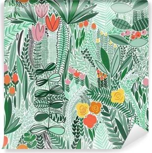 Vinyl Fotobehang Tropische naadloos bloemenpatroon