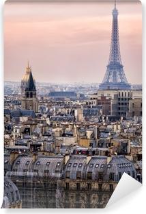Vinyl Fotobehang Uitzicht over Parijs en de Eiffeltoren van Boven