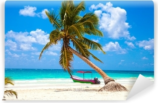 Vinyl Fotobehang Vakanties en toerisme concept: Caribbean Paradise.