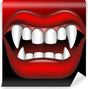 Vinyl Fotobehang Vampire Mouth Fierce Halloween-Bocca di Vampiro Feroce-Vector