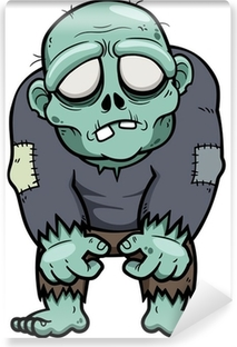 Vinyl Fotobehang Vector illustratie van Cartoon zombie