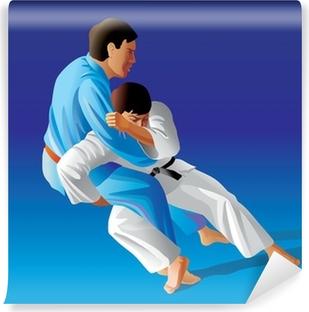 Vinyl Fotobehang Vector illustratie van judo