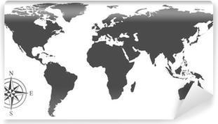 Vinyl Fotobehang Vector kaart van de wereld
