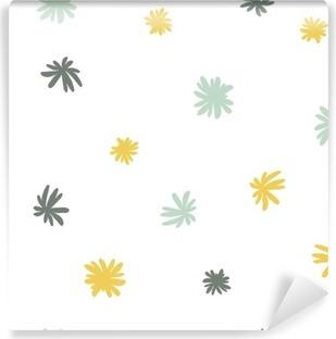 Vinyl Fotobehang Vector naadloze schattig minimalistische bloempatroon.