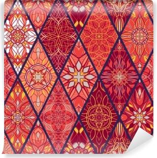 Vinyl Fotobehang Vector naadloze textuur. prachtig mega patchworkpatroon voor design en mode met decoratieve elementen