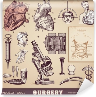 Vinyl Fotobehang Vector set: chirurgie - medisch ontwerp elementen