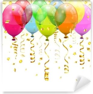 Vinyl Fotobehang Verjaardag Ballonnen