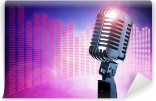Vinyl Fotobehang Vintage microfoon op het podium