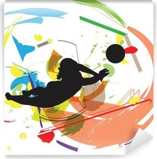 Vinyl Fotobehang Volleybal illustratie
