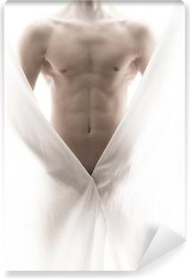 Vinyl Fotobehang Voorkant van een gedeeltelijk naakt mannelijk lichaam