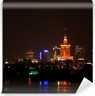 Vinyl Fotobehang Warsaw by night