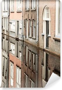 Vinyl Fotobehang Water kanaal in de stad Delft, Nederland