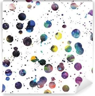 Vinyl Fotobehang Watercolor galaxy achtergrond.