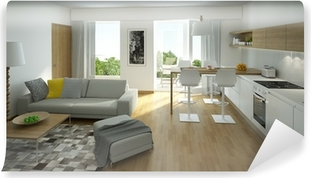 Fotobehang Mooi appartement, interieur, woonkamer • Pixers® - We ...