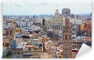 Vinyl Fotobehang Weergave van het historische centrum van Valencia